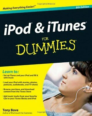 AU15.99 • Buy IPod & ITunes For Dummies (For Dummies (Computers)) By Bove, Tony 0470878711 The