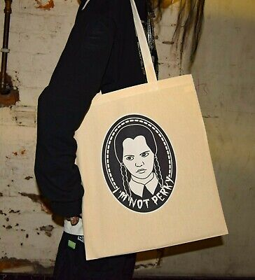 £7.50 • Buy I'm Not Perky Tote Bag - Wednesday Addams The Family Values Goth Emo