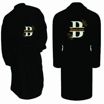 Personalised Name Embroidered Initial Bathrobe Toweling Dressing Gown Luxury Spa • 29.99£
