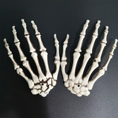 1 Pair Skeleton Hands Plastic Fake Human Hand Bone Halloween Party Scary Props • 5.29£