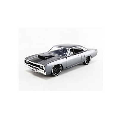 Jada Toys 30746 Doms Plymouth Road Runner Grey Fast & Furious 1:32 Scale • 15.90£