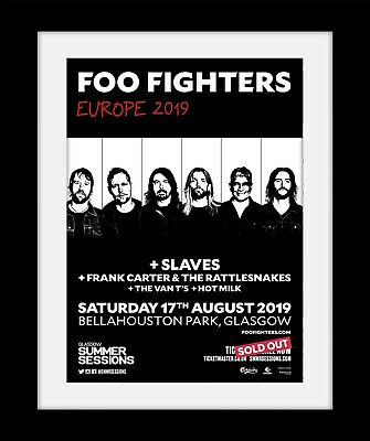 FOO FIGHTERS Bellahouston Glasgow Print Mounted Or Framed FREE POSTAGE Ref41 • 9.99£