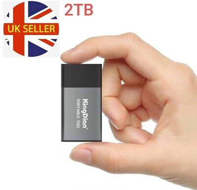 2TB Portable SSD 1.8'' USB3.0 P10 External Solid State Drives Disk For Laptop • 249.99£