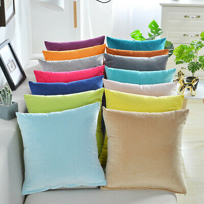 AU7.66 • Buy Plain Dyed Solid Cotton Canvas Cushion Cover Decorative Accent Pillow Case Sham
