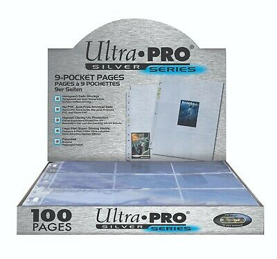 Ultra Pro Silver 9-Pocket Pages (25 Pages) • 10.92£