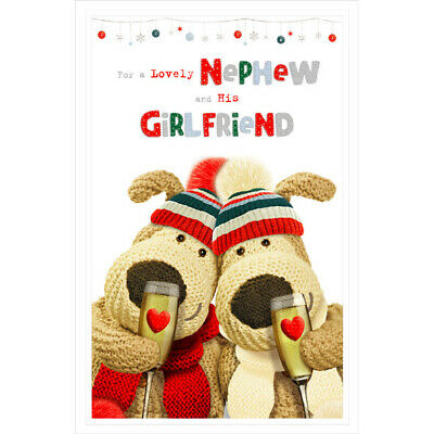 For A Lovely Nephew And His Girlfriend Boofle Christmas Card • 4.49£