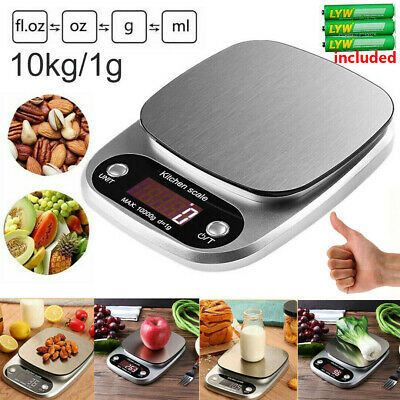 5KG Electronic Kitchen Scales LCD Digital Bowl Scale Cook Baking Food Weighing • 9.95£
