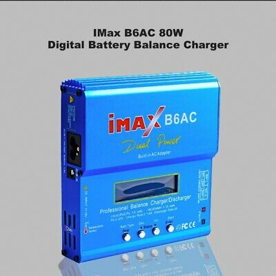 AU49.90 • Buy IMax B6AC 80W RC Lipo NiMh Digital Battery Balance Charger Discharger Control