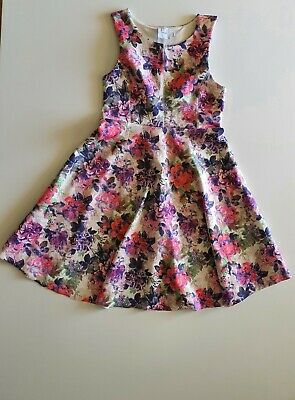 AU19.50 • Buy Asos Maternity White Floral Stretch Flare Dress Size 12 Sleeveless Party Evening