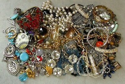 $ CDN26.36 • Buy Jewelry Lot LBS Vintage - Now Junk Drawer Harvest Craft Unsearched Untested A4