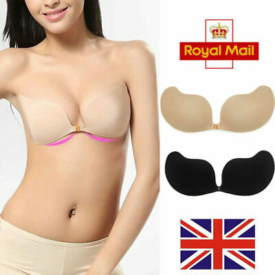 £7.99 • Buy Women's Push Up Sticky Strapless Backless Covered Nipples Adhesive Invisible Bra