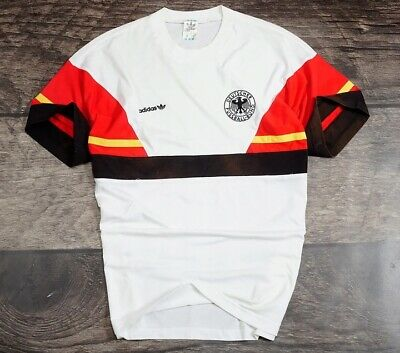 Adidas DEUTSCHLAND GERMANY Vintage RETRO _ MEN SHIRTS _ XL _ S80 / S90 /ALL • 150£