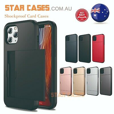 AU11.99 • Buy IPhone11 Pro X XS Max XR 7 8 Plus Shockproof Slide Wallet Card Holder Case Cover