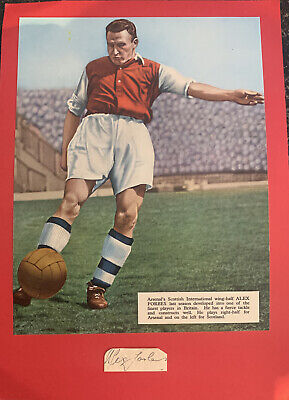 Signed Alex Forbes Arsenal FC 1940s 1950s Football Autograph Scotland Fulham • 7.99£