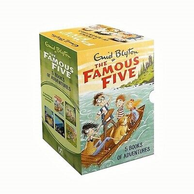 THE FAMOUS FIVE ENID BLYTON 5X BOOKS Of Adventure Box Set Brand New Sealed • 12.99£