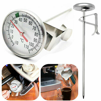 Clip On Metal Dial Thermometer-Frothing -10-100℃ Milk Cheese Candle Making Tool • 4.31£