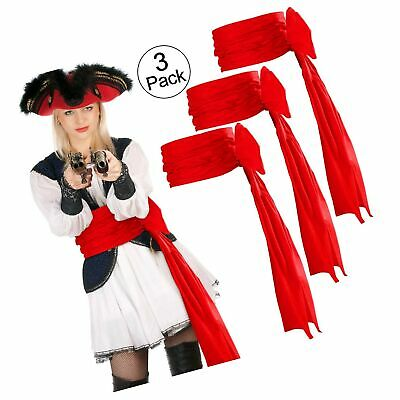 SATINIOR 3 Pieces Pirate Sash Halloween Belt Sash Medieval Sash, 118 Inch Lon... • 24.56£