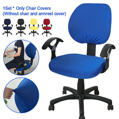 AU18.38 • Buy 2pcs Swivel Rotate Elastic Stretchable Home Office Chair Cover Square Back Seats