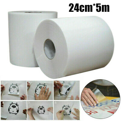 £5.35 • Buy 24*5m Hot Clear Sign Vinyl Application Tape Sticky Decal Sticker Transfer Paper
