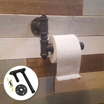 AU19.99 • Buy Industrial Vintage Iron Pipe Toilet Paper Roll Holder Washroom Wall Mount Decor