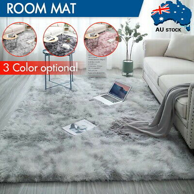 AU21.46 • Buy Rectangle Shaggy Carpet Bedroom Living Room Floor Pads Mat Soft Fluffy Area Rugs