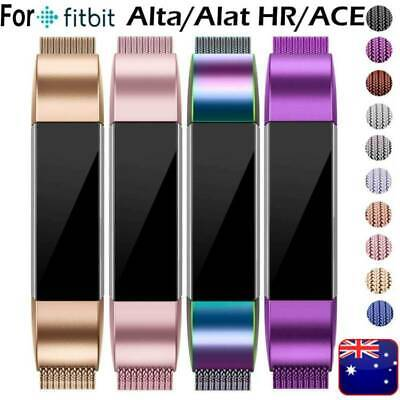 AU20.99 • Buy Fitbit Alta / Alta HR ACE Magnetic Stainless Steel Replacement Spare Band Strap