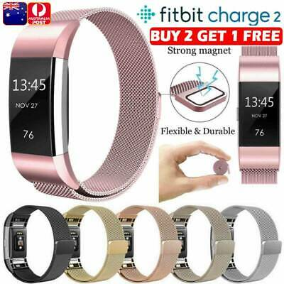 AU9.99 • Buy For Fitbit Charge 2 Strap Replacement Milanese Band Stainless Steel Magnet AU