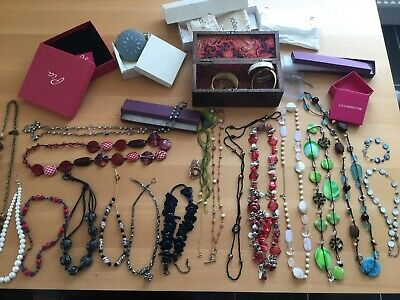 Joblot Of Vintage Costume Jewellery And Vintage Lined Box • 8£