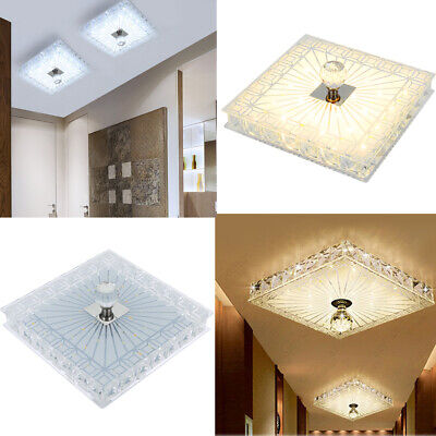 £17.98 • Buy 18cm Square LED Crystal Ceiling Down Light Panel Wall Kitchen Bathroom Lamp Cool