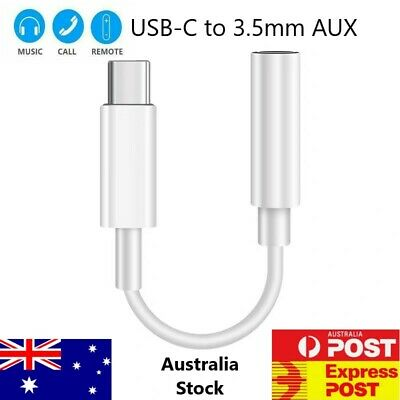 AU5.99 • Buy For Samsung Google Huawei USB Type C To 3.5mm Aux Audio Cable Adapter Headphone