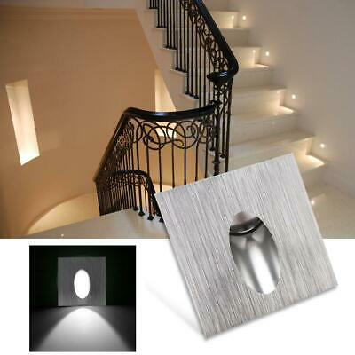 3W LED Recessed Stair Light AC 85-265V Aluminum Stairway Wall Corner Lamp • 8.55£