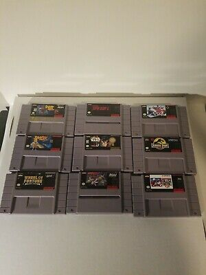 $ CDN22.40 • Buy Lot Of 9 SNES GAMES - Tested Ok