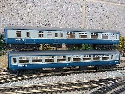 Hornby Inter City Blue Grey MK 2 Coaches For OO Gauge Model Train Set (1) • 10.50£