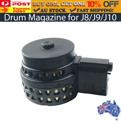 AU25.99 • Buy High Capacity Drum Magazine For JINMING Gen 8 M4A1 / J9 / Gen10 ACR Gel Blaster