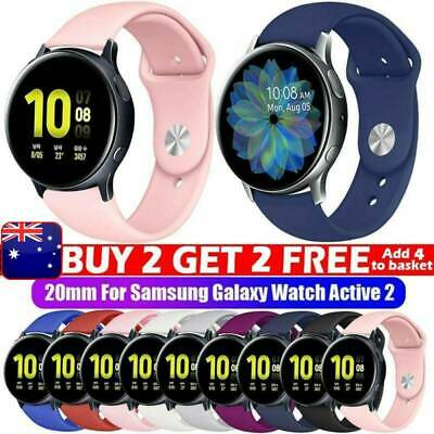 AU10.99 • Buy For Samsung Galaxy Watch Active 2 44 40mm 42 Silicone Bracelet Sports Band Strap