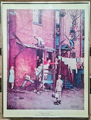 $ CDN43.21 • Buy NORMAN ROCKWELL Homecoming 1945 Vintage Print Poster American Picture WWII