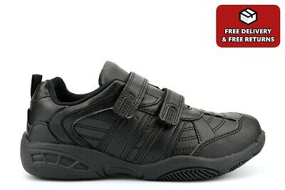 Boys Touch Fasten School Shoes Boys Touch Fastening School Trainers Size • 12.99£