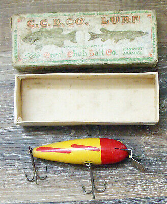 $ CDN80 • Buy Vintage C. C. B. Co. Wiggler #100 Wood Fishing Lure In Unmarked Box!