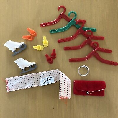 $ CDN7.90 • Buy Vintage Barbie Doll Clothes Accessories Skates Purse Shoes Pearls Scarf Hang Euc