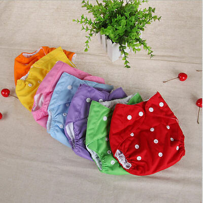 AU1.89 • Buy Reusable Waterproof Baby Cloth Nappies Diapers Adjustable Inserts Bulk Nappy NEW