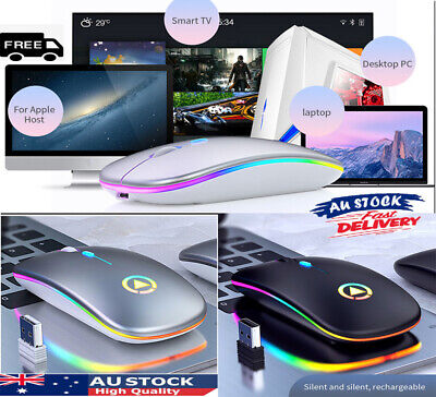 AU8.99 • Buy Wireless Cordless Mouse Mice Silent USB 2.4GHz Rechargeable For PC Laptop H8 HOT