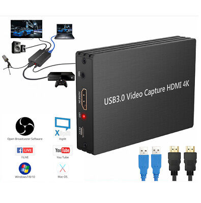 4K HDMI To USB 3.0 Video Capture Card Dongle 1080P FHD 60fps HD Video Recorder • 45.25£