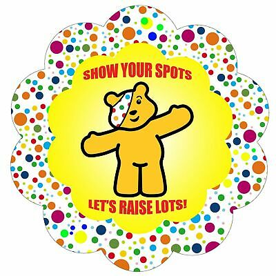 Children In Need Show Your Spots 10% Charity Iron On T Shirt Transfer A5 • 2.50£