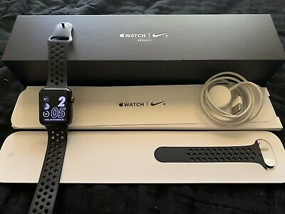 $ CDN128.01 • Buy Apple Watch Nike+ 42mm Space Gray Aluminium Case With Anthracite/Black Nike...