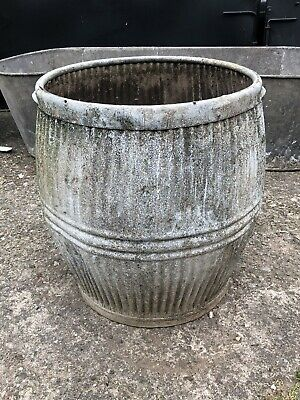 Galvanised Vintage Dolly Tub Garden Planter Holds Water No Holes • 21.01£