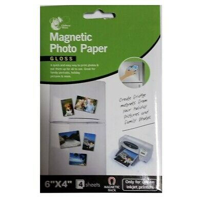 £3.90 • Buy 6  X 4  Magnetic Photo Paper - Gloss - 4 Sheets