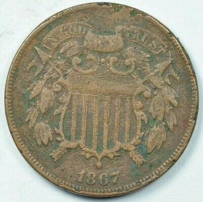 $ CDN30.84 • Buy 1867 2C Two Cent Piece Very Fine Details VF