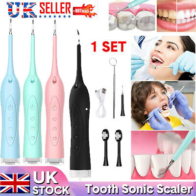 Electric Sonic  Tooth Stains Oral Dental Scalers Tartar Calculus Plaque Remover • 9.89£