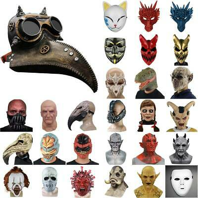 Halloween Plague Doctor Face Mask Horror Cosplay Party Scary Fancy Dress Props • 13.29£