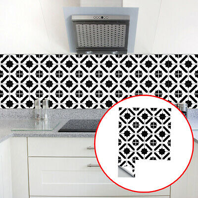 10pcs Moroccan Mosaic Effect Tiles Stickers Kitchen Bathroom DIY Wall Stickers  • 6.69£